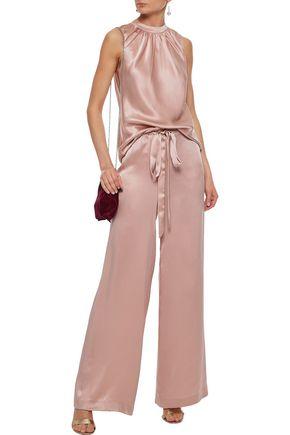 SACHIN & BABI Silk-satin wide-leg pants