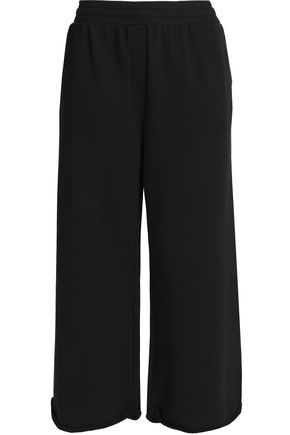 T by ALEXANDER WANG Cropped cotton-blend jersey wide-leg pants