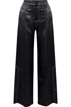 BEAUFILLE Satin wide-leg pants