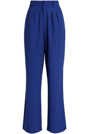 RAOUL Pleated crepe wide-leg pants