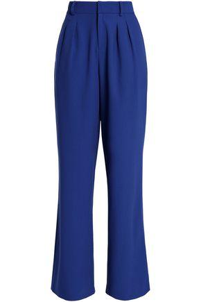 RAOUL Pleated crepe wide-leg pants