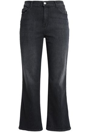 J BRAND Faded mid-rise bootcut jeans