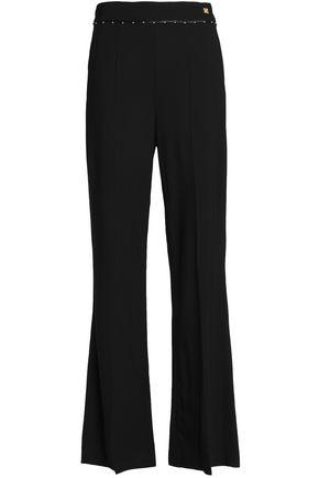 CLASS ROBERTO CAVALLI Studded crepe wide-leg pants