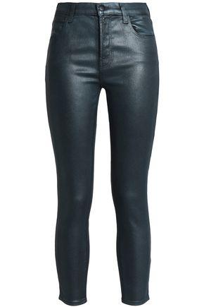 J BRAND Perception coated high-rise skinny jeans
