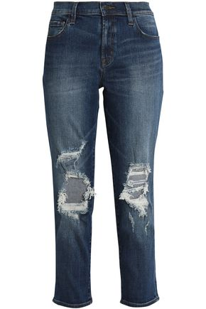 J BRAND Faded low-rise slim-leg jeans