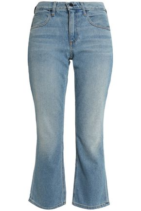 ALEXANDER WANG Faded mid-rise flared jeans