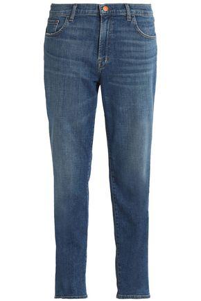 J BRAND Faded mid-rise straight-leg jeans