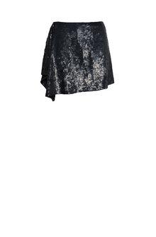 ALBERTA FERRETTI Black sequin Rainbow Week mini-skirt SEQUINED SKIRT Woman e