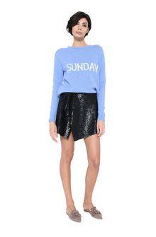 ALBERTA FERRETTI Black sequin Rainbow Week mini-skirt SEQUINED SKIRT Woman f