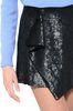 ALBERTA FERRETTI Black sequin Rainbow Week mini-skirt SEQUINED SKIRT Woman a