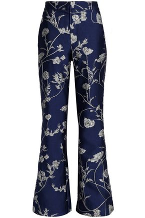JOHANNA ORTIZ Brocade wide-leg pants