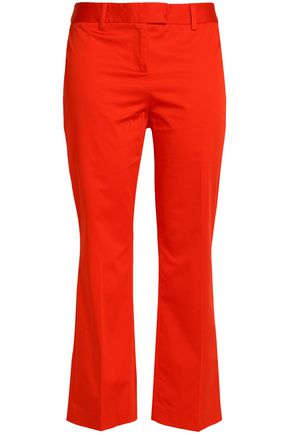 BOUTIQUE MOSCHINO Cropped stretch-cotton kick-flare pants