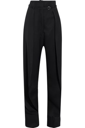 LEMAIRE Pleated wool straight-leg pants