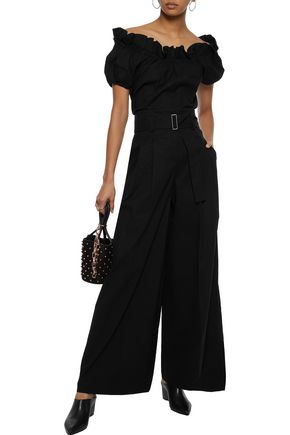 Pleated Woven Wide Leg Pants by Sea
