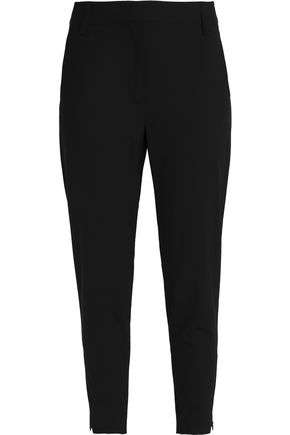 DKNY Cropped stretch-wool tapered pants