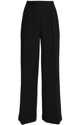 DKNY Pleated stretch-twill wide-leg pants