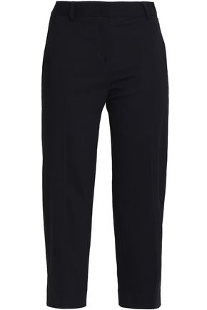 DKNY Cropped wool-blend tapered pants
