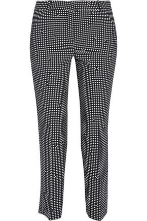 CARVEN Gingham crepe tapered pants
