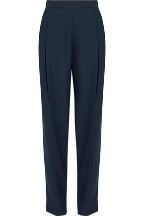 CARVEN Pleated crepe straight-leg pants