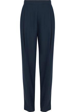 CARVEN Pleated crepe straight-leg pants