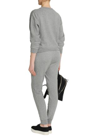 ALEXANDERWANG.T Mélange cotton-blend track pants