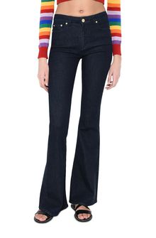 ALBERTA FERRETTI Boot-cut jeans in Japanese denim Jeans Woman r