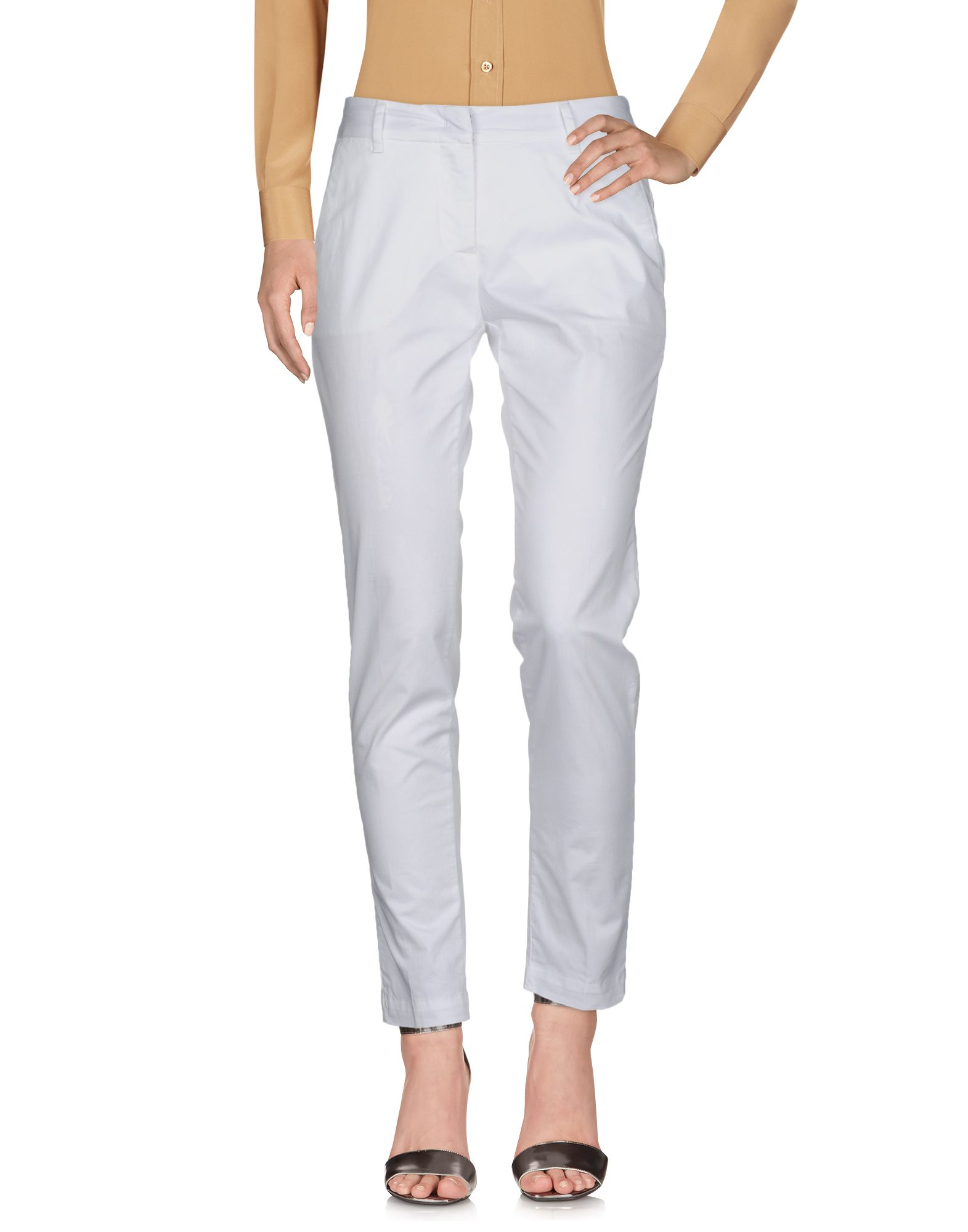 PERFECTION Casual Pants in White