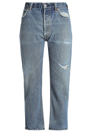 RE/DONE by LEVI'S Cropped high-rise bootcut jeans
