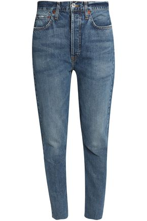 RE/DONE by LEVI'S Distressed high-rise skinny jeans