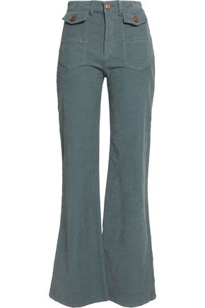 SEE BY CHLOÉ Cotton-blend corduroy flared pants