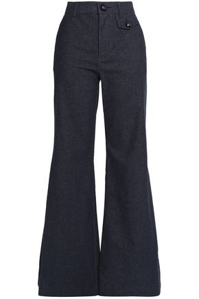 SEE BY CHLOÉ Cotton-blend twill flared pants