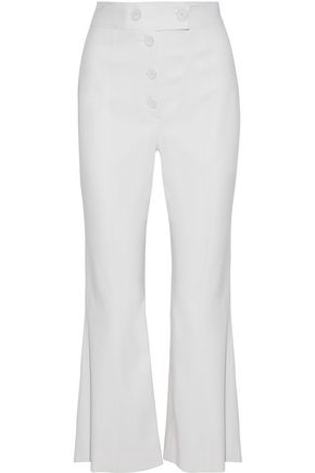 PROENZA SCHOULER Stretch Virgin wool-twill kick-flare pants