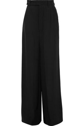 RICK OWENS Astaire Bell crepe wide-leg pants