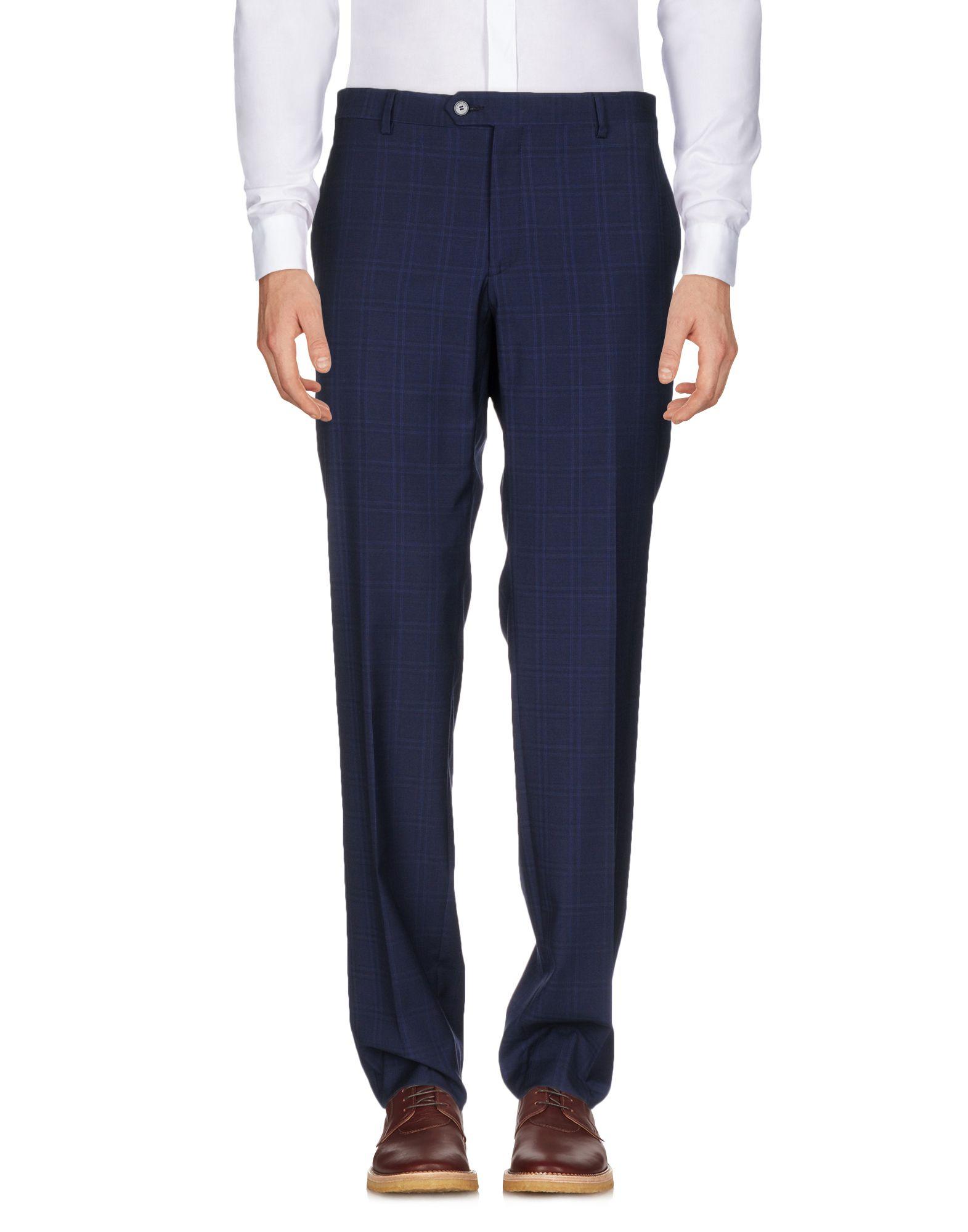 《送料無料》MANUEL RITZ メンズ パンツ ダークブルー 56 バージンウール 100%