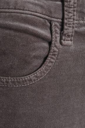 J BRAND Maria snake-print cotton-blend velvet skinny pants