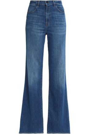 J BRAND Faded high-rise bootcut jeans