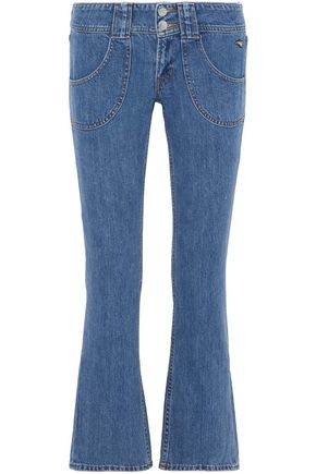 J BRAND Electrify cropped low-rise kick-flare jeans