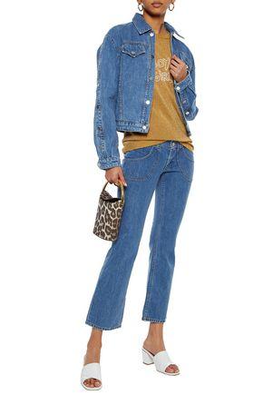J BRAND Electrify cropped low-rise kick-flare jeans