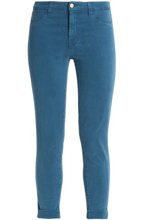 J BRAND Cropped sateen slim-leg pants