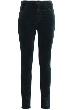 J BRAND Cotton-blend velvet skinny pants