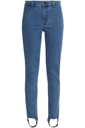 J BRAND High-rise slim-leg stirrup jeans