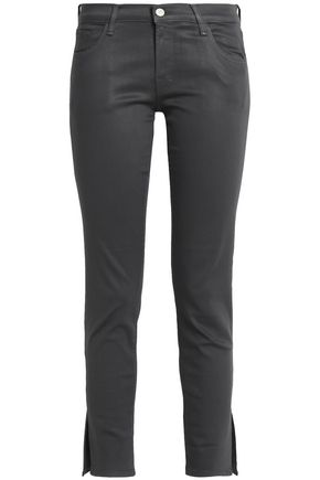 J BRAND Celeste cropped coated mid-rise skinny jeans