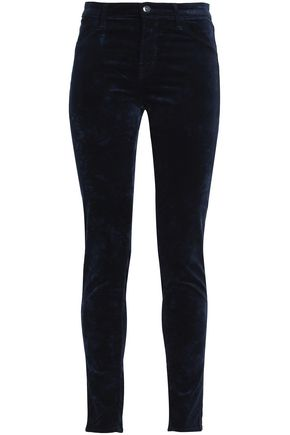 J BRAND Velvet cotton-blend skinny pants