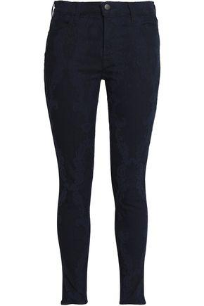 J BRAND Jacquard mid-rise skinny jeans