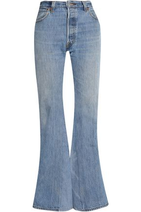 RE/DONE by LEVI'S Faded high-rise flared jeans