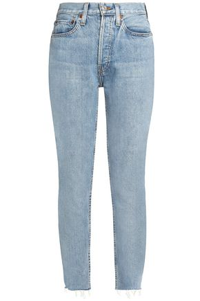 RE/DONE High-rise slim-leg jeans