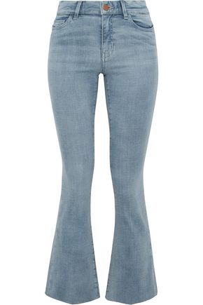 M.I.H JEANS Faded mid-rise flared jeans