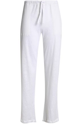 MAJESTIC FILATURES Linen straight-leg pants