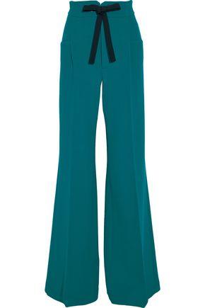 ROLAND MOURET Wool-crepe wide-leg pants