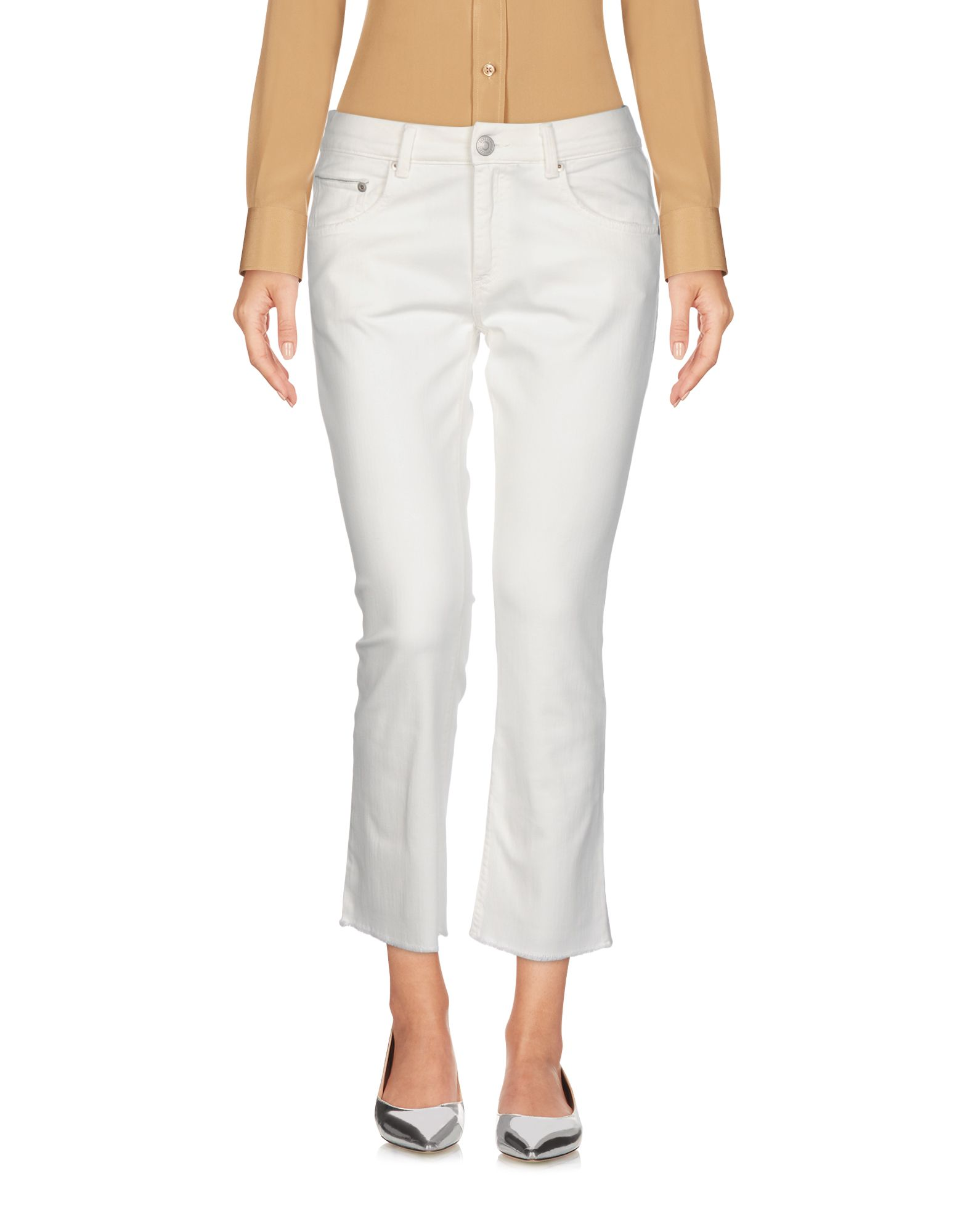 CARE LABEL Cropped Pants & Culottes in Ivory